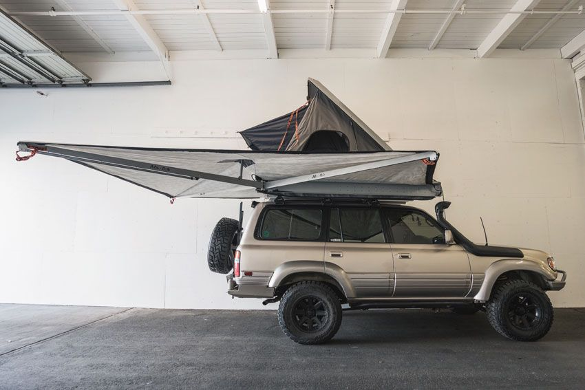 Alu Cab Expedition Series Iii Rooftop Tent And Shadow Awning On A Landcruiser Adventure Ready Roof Top Tent Roof Tent Land Cruiser
