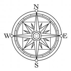Compass Boussole Dessin Rose Des Vents Boussole
