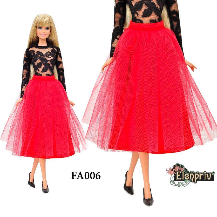 33b13bfd33 ... similar size dolls. ELENPRIV FA006 tutu midi skirt {Choose color} for  Barbie Pivotal Made-to-