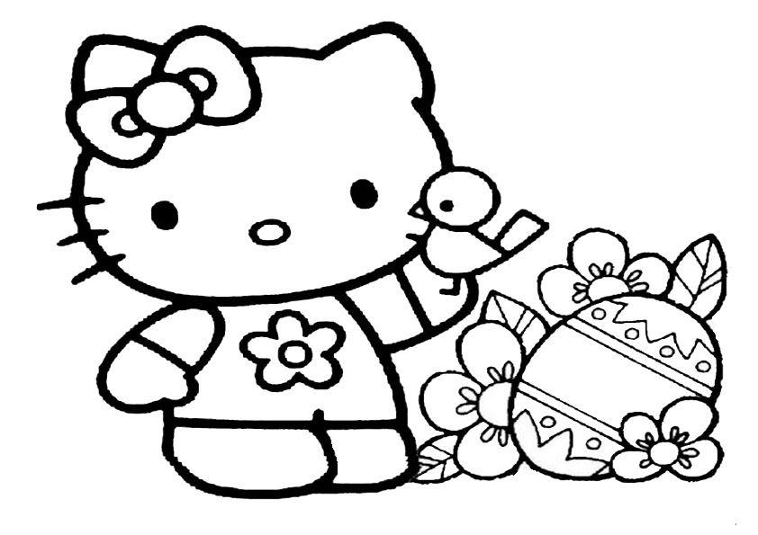 Ausmalbilder Ostern Hello Kitty 01 Hello kitty coloring