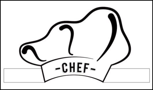 Chef hat coloring sheet profession coloring pages for Printable chef hat template