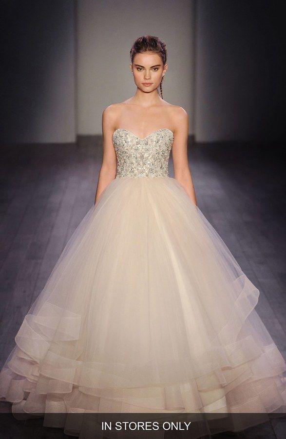 Lazaro Tulle Ball Gown Wedding Dress