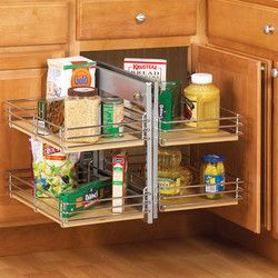 Knape vogt slide out base blind kitchen corner cabinet for Kitchen base unit shelf