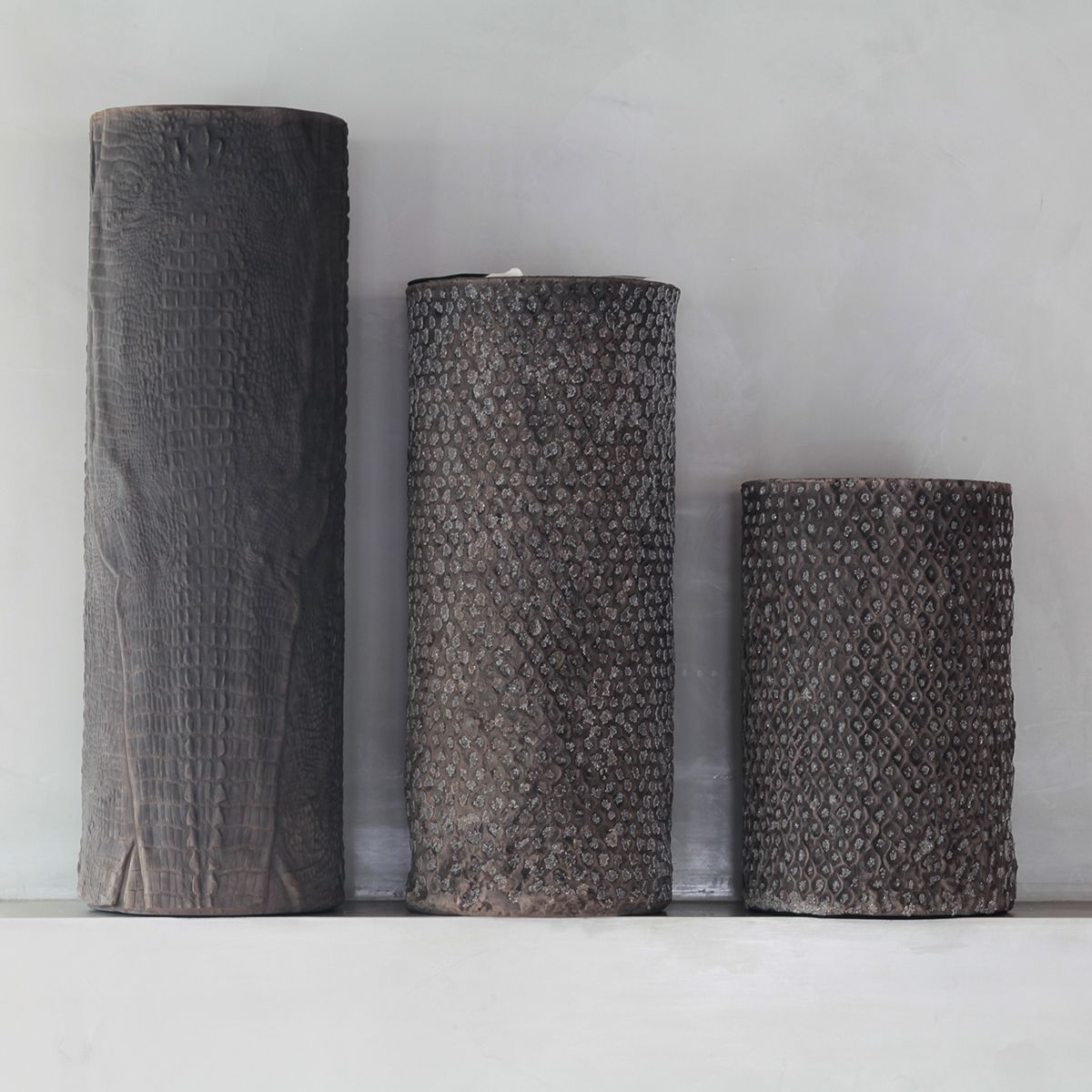 Better in threes... Handcrafted vases by Gilles Caffier, inspired by nature. http://monc13.com/