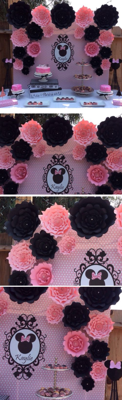 Paper crafts 160666 large paper flowers minnie mouse photo backdrop paper crafts 160666 large paper flowers minnie mouse photo backdrop flower wall paper flowers mightylinksfo