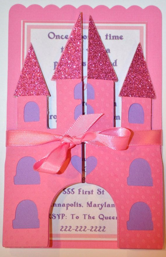 Princess Castle Invitation Etsy Shop