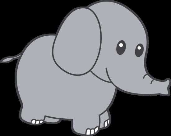 Cute Little Grey Elephant Cartoon Elephant Elephant Clip Art Elephant Black And White