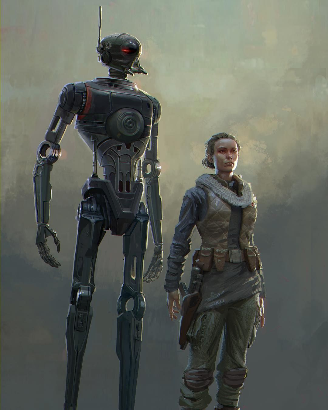 Early K2so Concept Rogue Star Wars Story #