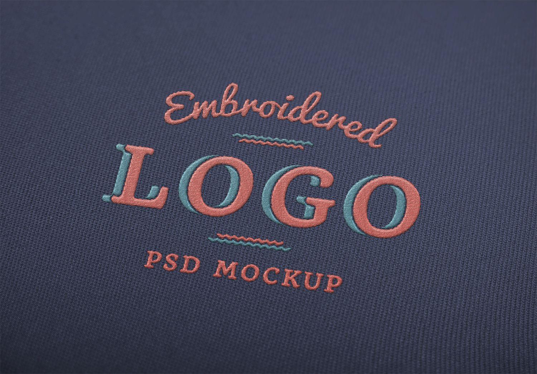 Embroidered Logo Mockup Free Mockup Free Logo Mockup Free Logo Mockup Psd Mockup Free Psd