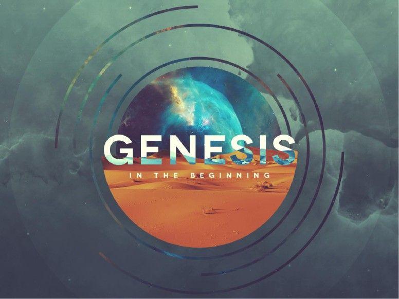 Genesis In The Beginning Sermon Graphic | design // graphics