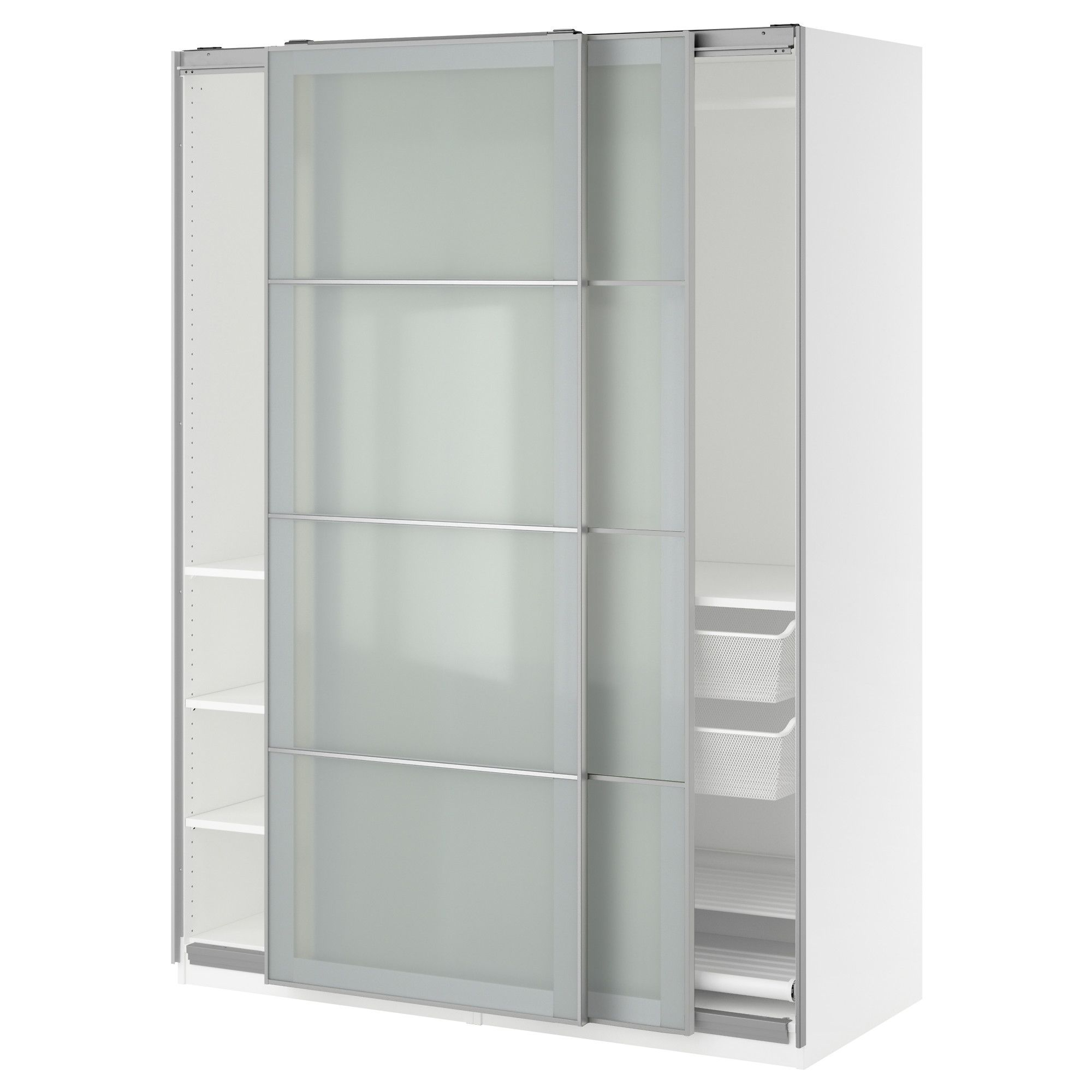 Ikea Pax Wardrobe 150x66x201 Cm Soft Closing Damper 10 Year Limited Warranty Read About The Terms In Brochure