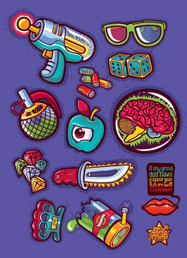 Space Crime By Konstantin Shalev Via Behance Art Graphic