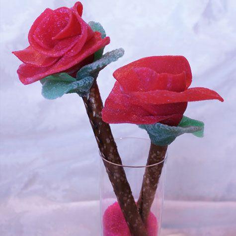 Pretzel Valentine Roses