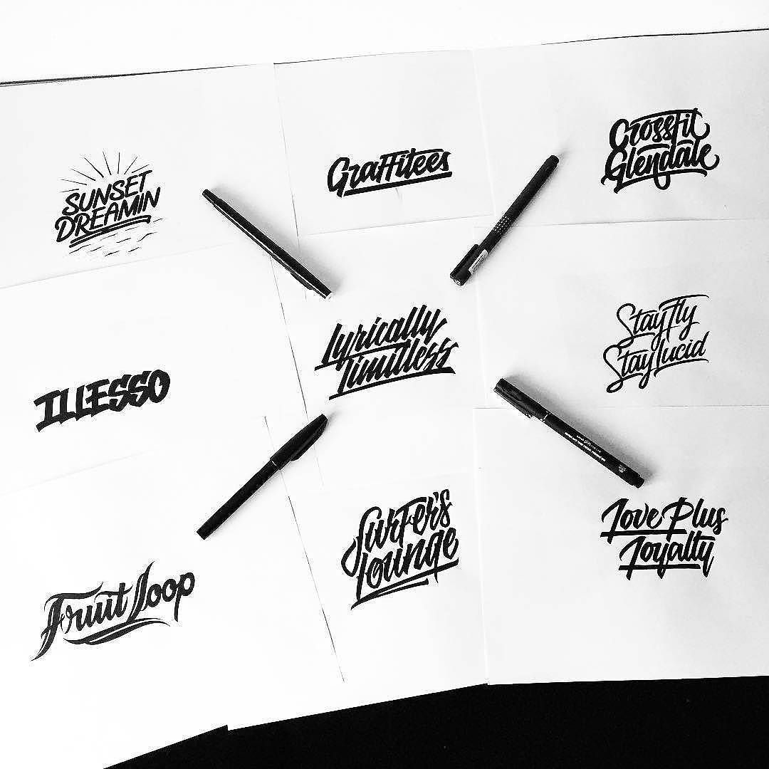 Great collection of styles by @illesso_ | #typegang if you would like to be featured | typegang.com | typegang.com #typegang #typography