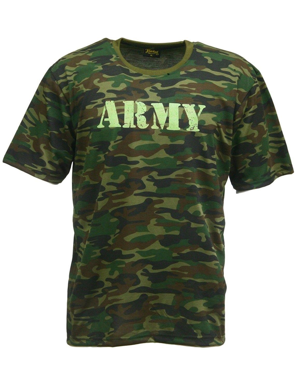b5c674dee Vintage Army Logo Military Camo-Camouflage T-Shirt - Woodland Camo 01 -  CD12MAMHAAY