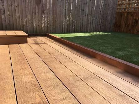 Image result for millboard coppered oak decking back deck 85j