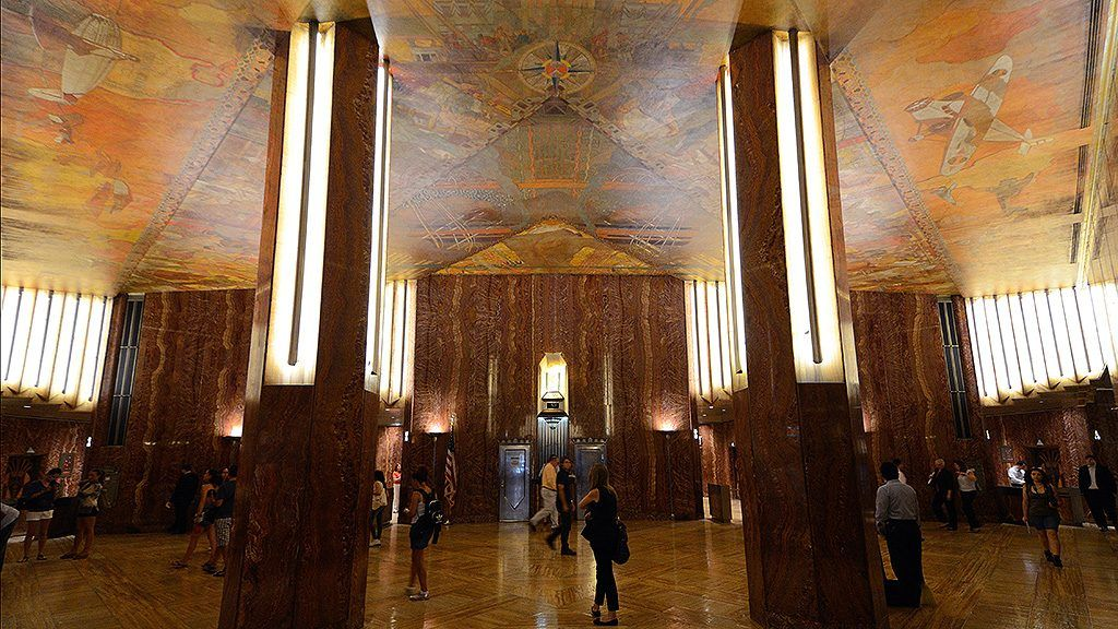 Chrysler Building Ceiling Mural Restoration With Images
