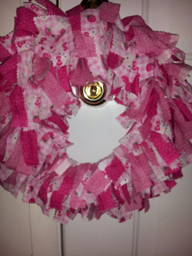 Hello Kitty rag wreath