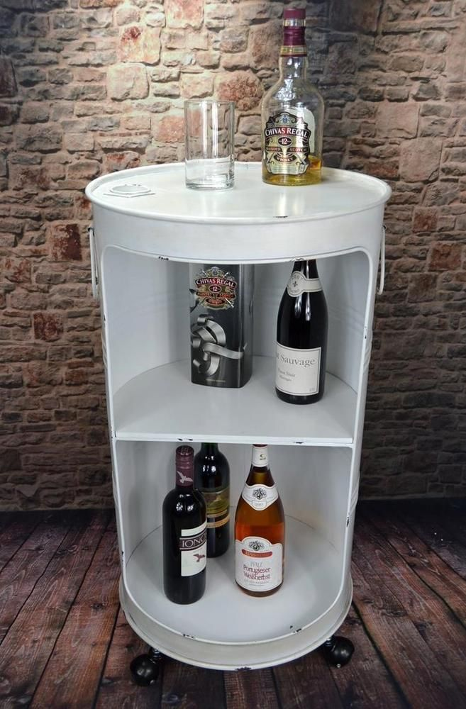 minibar hausbar regaltonne lfass h80 cm industrie look loft vintage lv5025 in m bel wohnen. Black Bedroom Furniture Sets. Home Design Ideas