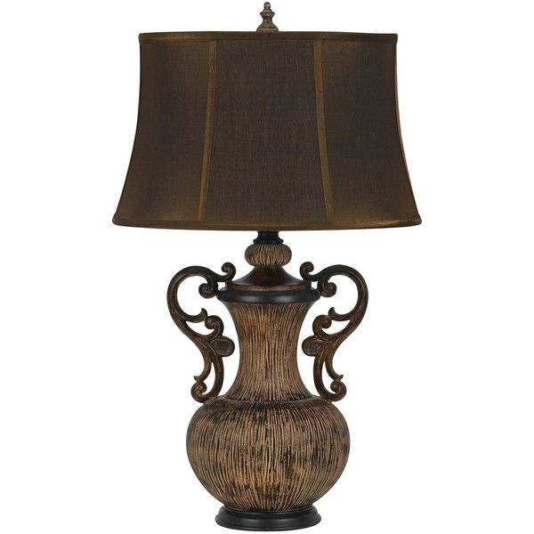 Coultta Resin 29 25 H Table Lamp With Bell Shade Table Lamp Lamp Bedside Table Lamps