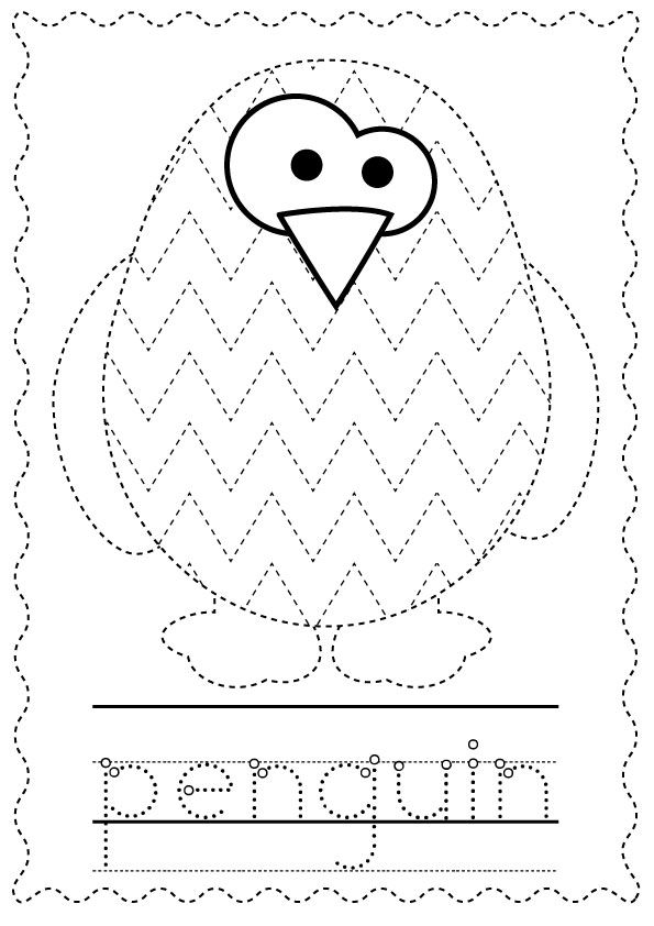 Penguins Print And Go Packet Penguins Printing And Winter