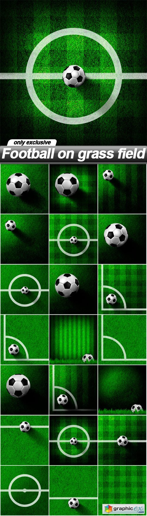 Football on grass field  21 UHQ JPEG  stock images