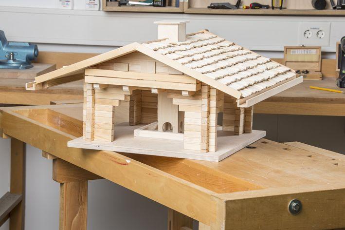 selbst ist der mann bauplan futter blockhaus 10 2015 vogelhaus pinterest haus bau und. Black Bedroom Furniture Sets. Home Design Ideas
