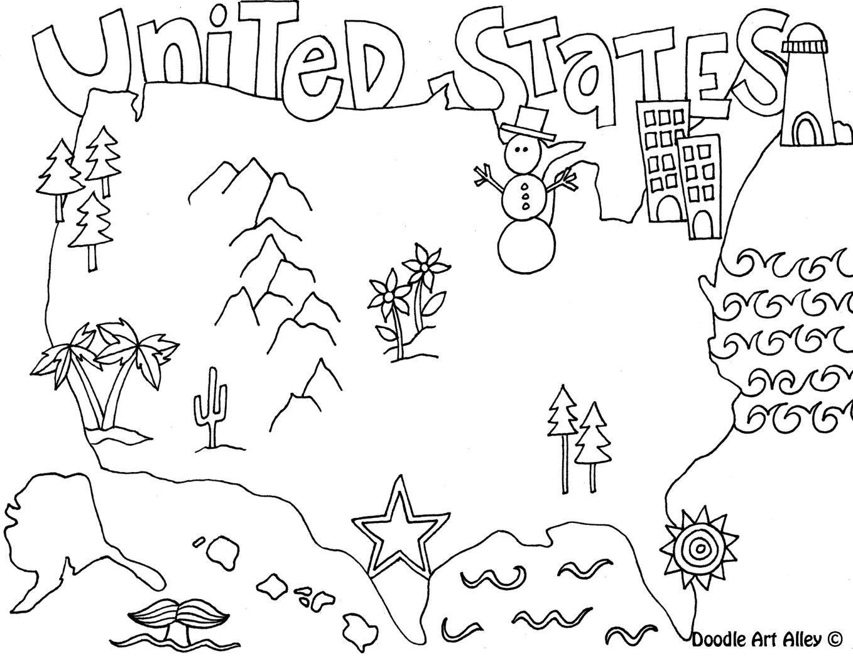 unitedstates.jpg   Templates - doodles   Pinterest