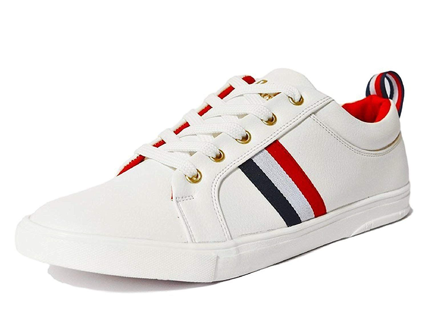 2253f03a0fe3 Rockfield Men s White Sneaker s Shoes  Buy Online at Low Prices in India -  Amazon.in