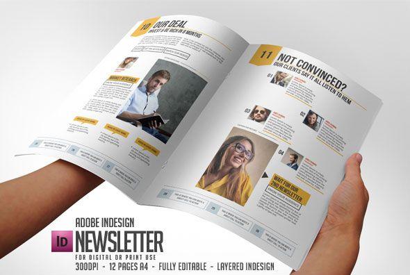 Fantastic Newsletter Examples Print Templates Newsletter