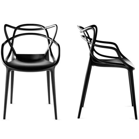 lot de 4 chaises transparente inspiree