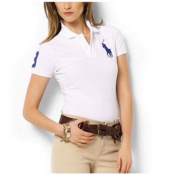 Ralph Lauren Big Blue Polo White Breathable Pony Short Sleeved http://www.