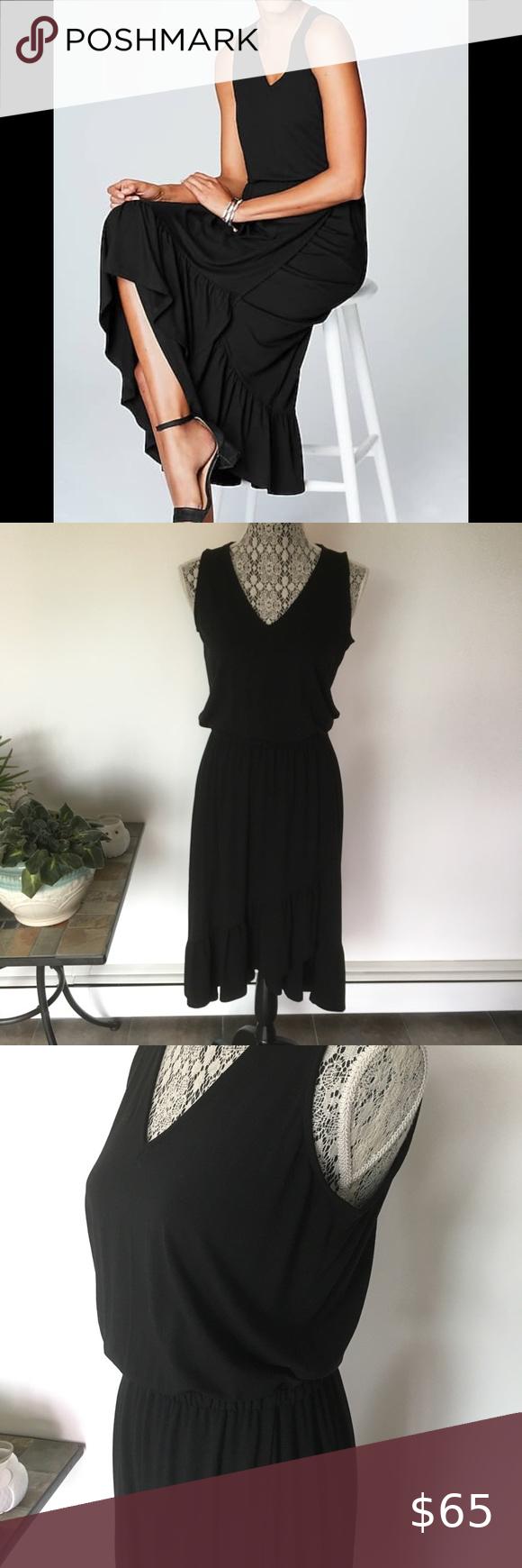 Ruffle Bottom Black Dress Black Dress Dresses Jill Dress [ 1740 x 580 Pixel ]