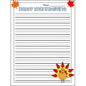 Thanksgiving Writing Template Education Thanksgiving Writing