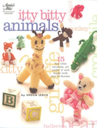"""Animal lovers of all ages will be sure to smile when they see these tiny designs.The perfect pocket pals for little ones or whimsical friendship gifts for grown-ups, all 15 of these adorable critters can be made using size 10 crochet cotton thread. Finished animals measure 3"""" to 4"""" tall.Skill Level:"""