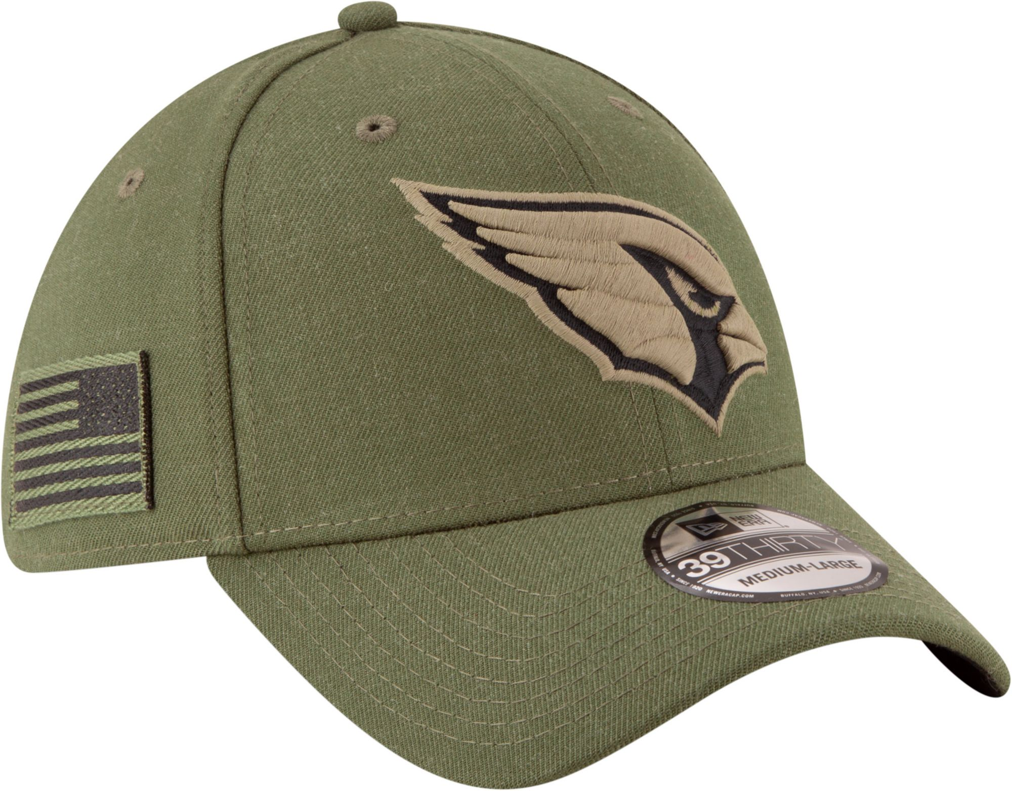 New Era Men s Salute to Service Arizona 39Thirty Olive Stretch Fit ... eaaab595c
