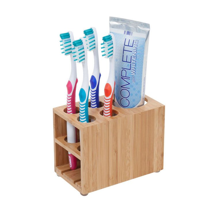 Bamboo Toothbrush Toothpaste Holder