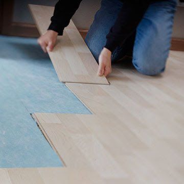 Set Down A New Floor In No Time At All Glueless Laminate Flooring