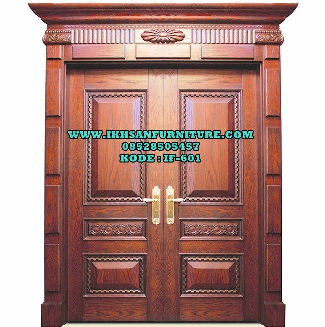 Model Pintu Rumah Kupu Tarung Kayu Jati Solid Mewah Klasik Modern Jual Pintu Rumah Kupu Tarung Kayu Jati Solid By Ikhsan Furniture J Kayu Jati Pintu Kayu Pintu