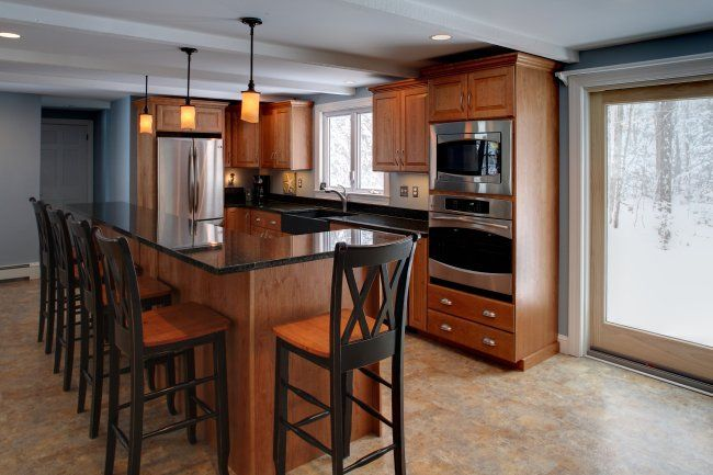What Color Counter Top With Cherry Cabinets Cherry