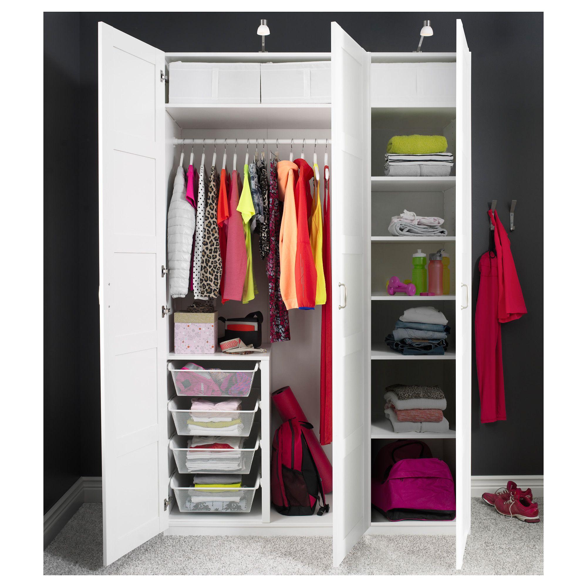 Ikea pax wardrobe white bergsbo white en 2019 muebles - Armarios oficina ikea ...