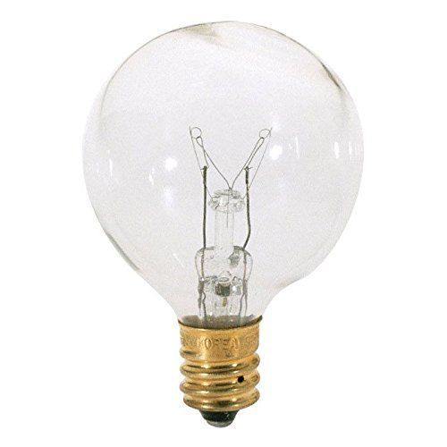 Satco S3844 10 Watt Candelabra Light Bulb G12 Globe Clear 1 500 Life Hours 60 Lumens 120 Volt More Light Bulb Globe Light Bulbs Candelabra Light