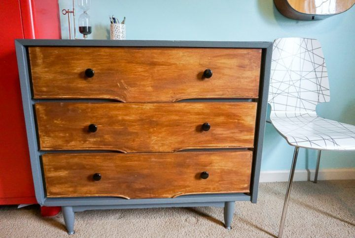 Een Moderne Makeover : Dresser makeover with stain and paint best furniture diy