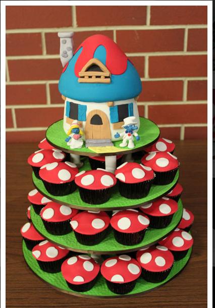 Smurf wedding cake how sweet it is cakes adelaide addys smurf wedding cake how sweet it is cakes adelaide junglespirit Images
