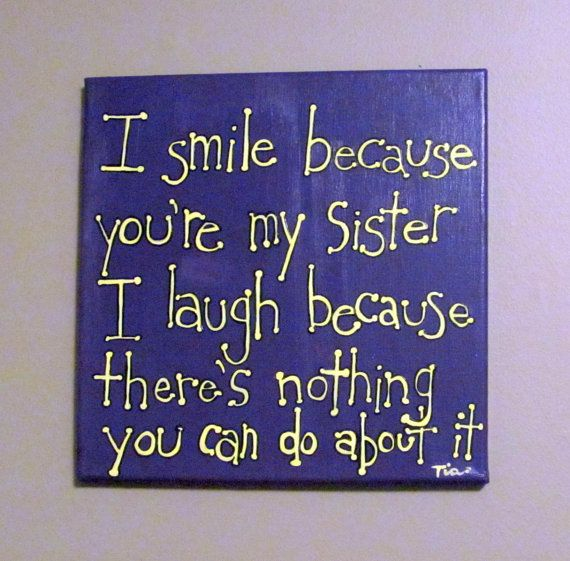 Funny women quotes Sister Quote Canvas Art by MadeByTheHearth,