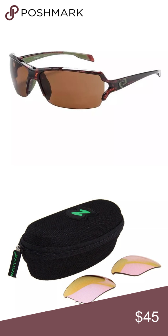 5628952c22 Native Eyewear Blanca polarized sunglasses. Interchangeable lens system  lets you switch to accommodate a variety
