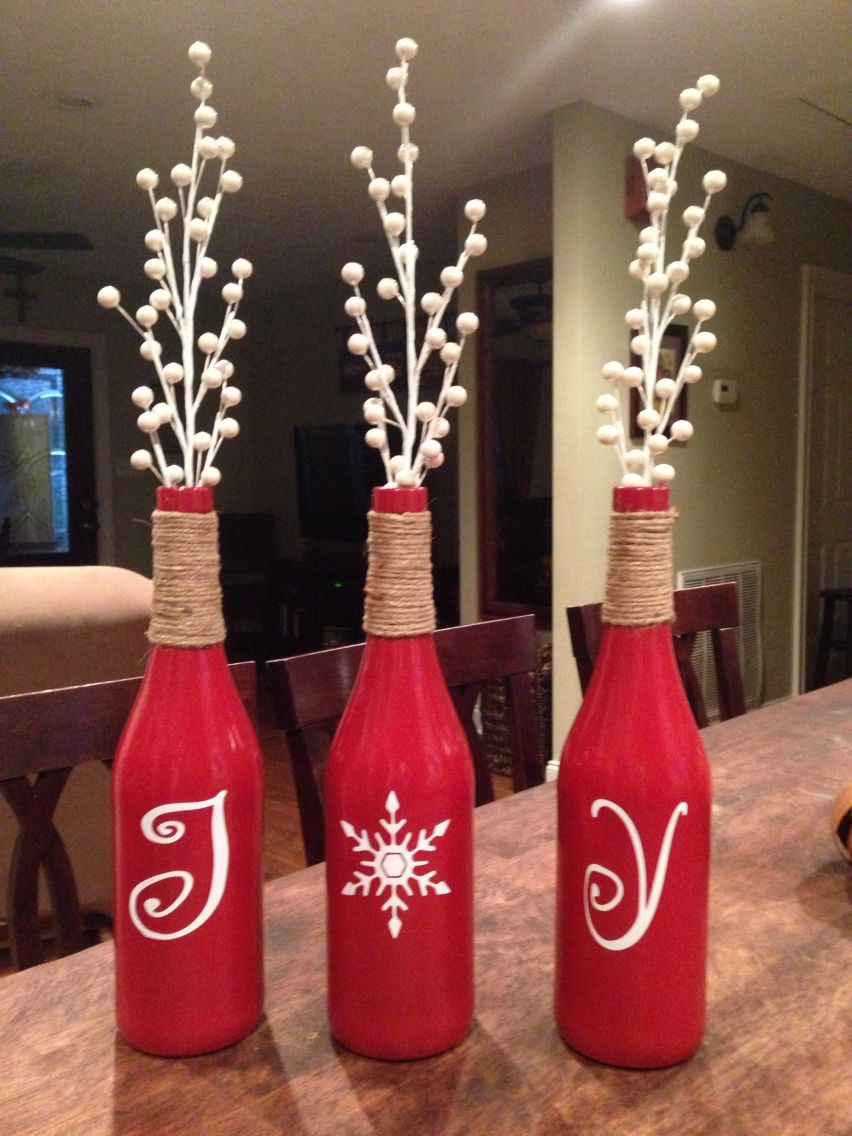 Wine Bottle Crafts Wine Bottle Crafts Christmas Christmas Wine Bottles Christmas Crafts Diy