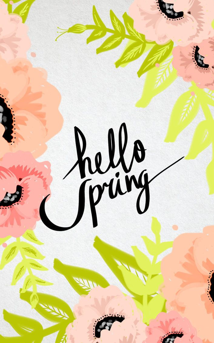 Hello Spring Tumblr Iphone Wallpaper