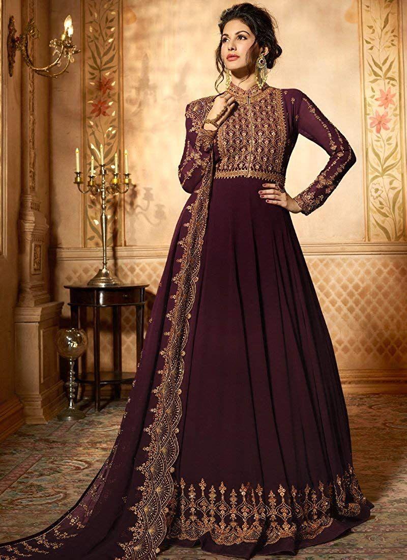 6202f74a39 $100 ziya Readymade Wedding Collection Indian Pakistani Anarkali Bollywood  Suit Glossy at Amazon Women's Clothing store: