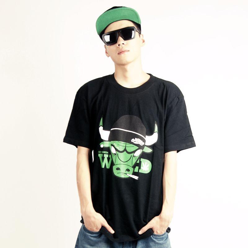 Street Style Men Rock Hip hop Clothes Male Short sleeve T ...